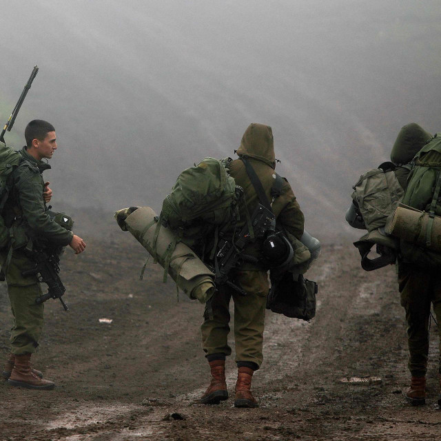 Golanska visoravan - izraelski vojnici