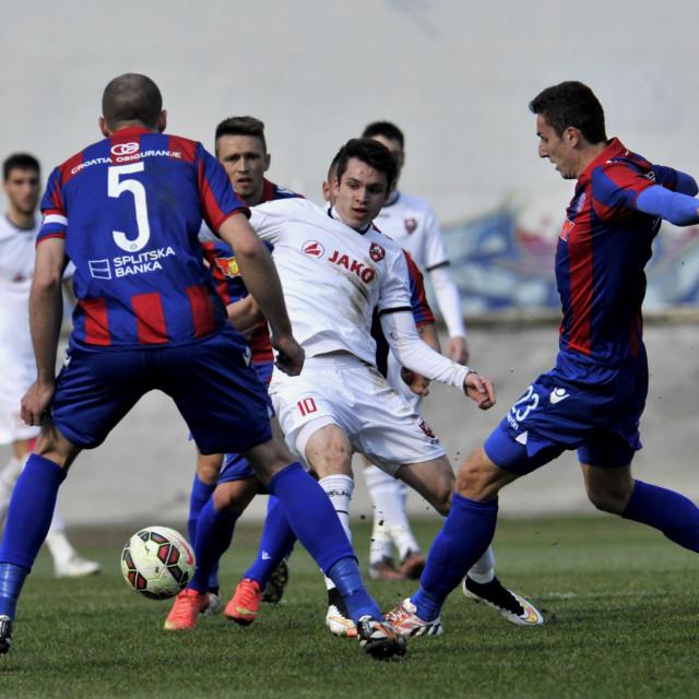 Zagrebov Filip Krovinović (između Gorana Milovića i Zorana Nižića) bio je velika želja Hajduka