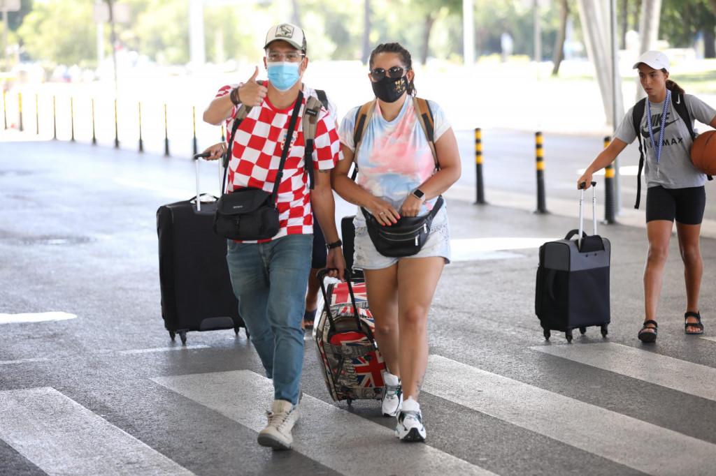 Turisti u Zračnoj luci Dubrovnik 2020.<br />