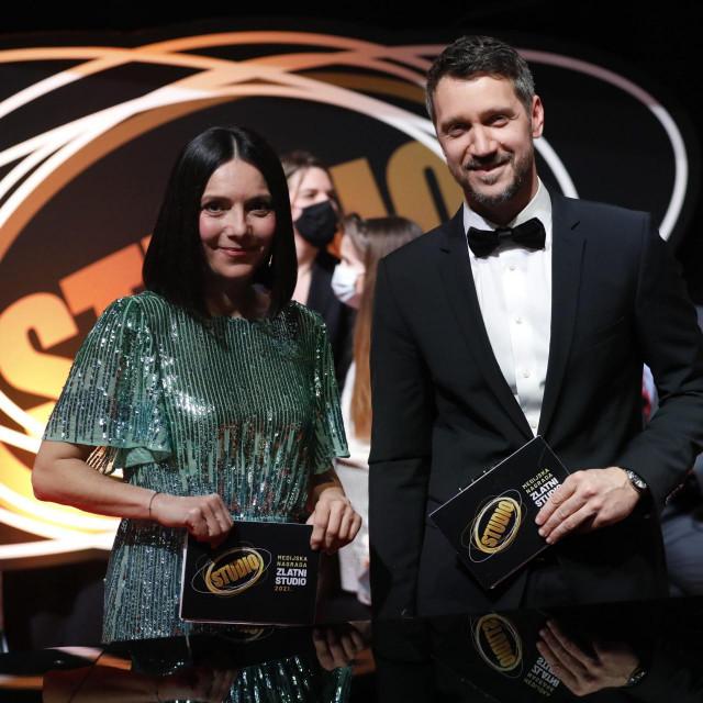 Daniela Trbović s Ivanom Vukušićem nedavno je vodila dodjelu nagrada Zlatni studio.