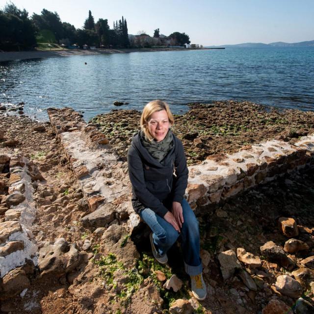 Filipa Jurković Pešić je arheologinja i voditeljica istraživanja ville rustice iz 1. st pronađene u Bibinjama kod Zadra