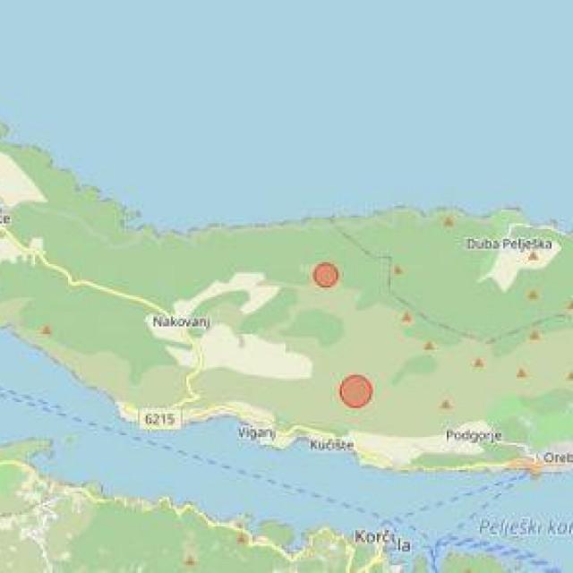 Seizmografi Seizmološke službe registrirali su dva slaba potresa na Pelješcu