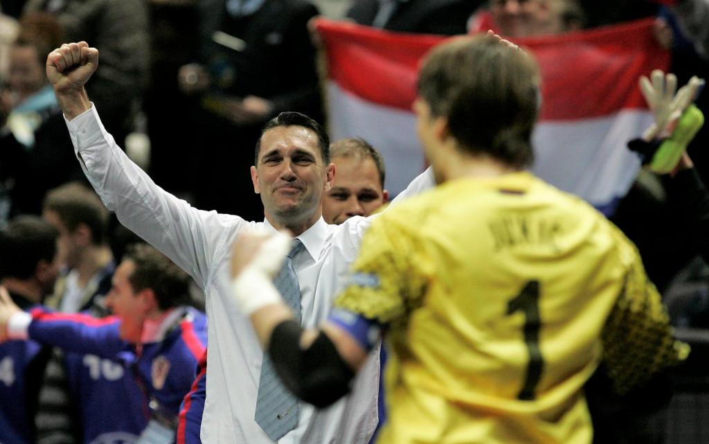 Mato Stanković slavi plasman u četvrtfinale EP-a 2012. s reprezentacijom Hrvatske, potom je slavio i plasman u polufinale foto: Jakov Prkić/CROPIX<br />