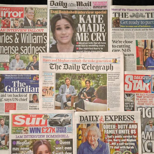 Naslovnice britanskih novina nakon šokantnog intervjua AFP