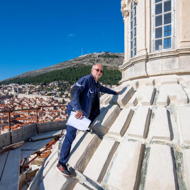 Željko Romić na kupoli katedrale Gospe Velike