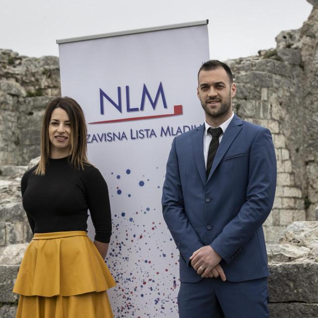 Vedran Duvnjak, NLM-ov gradonačelnički kandidat, i Anita Perkovic Milišić, kandidatkinja za dogradonačelnicu