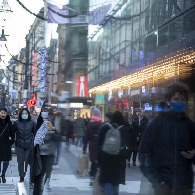 Ulice Stockholma u studenom 2020.