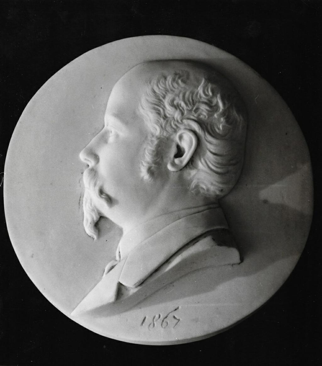 Reljef Meda Pucića, mramor, 1867.