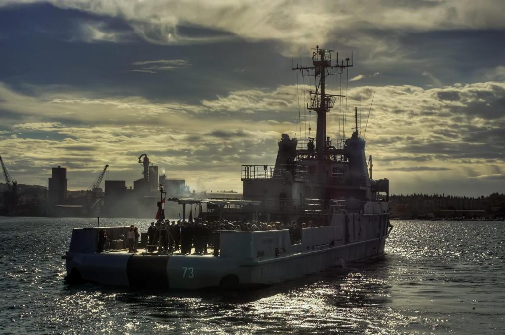 Zapovjedni brod HRM Faust Vrančić<br />
