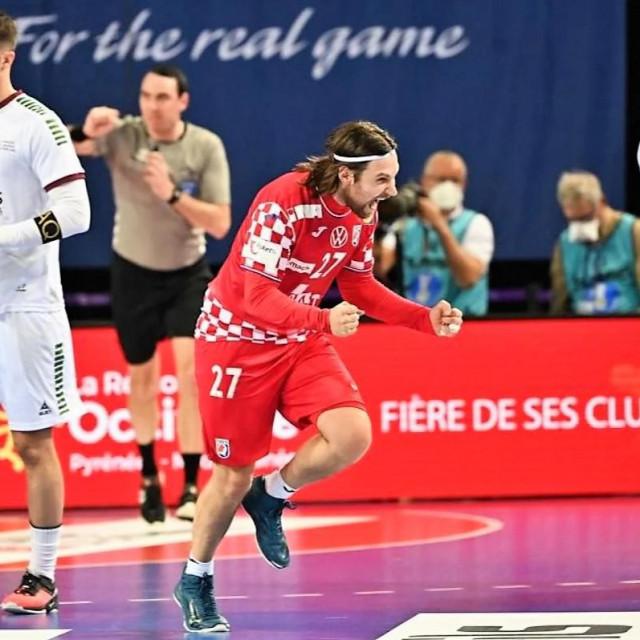 Ivan Čupić, hrvatski reprezentativac - 9 od 9 protiv Portugala u pobjedi 25:24 u Montpellieru