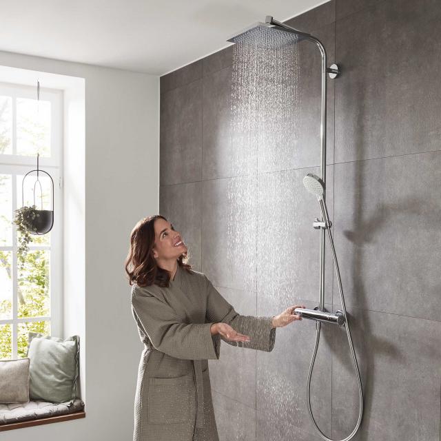 Hansgrohe Crometta E Showerpipe 240 1jet s termostatskom miješalicom (kvadratni dizajn)