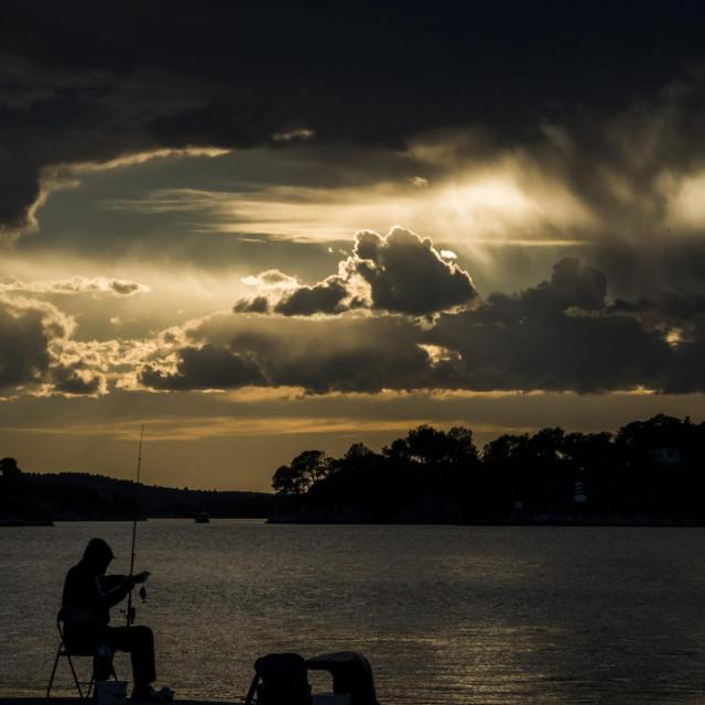 Prekrasni oblaci prekrili su sunce nad kanalom Sv. Ante<br />