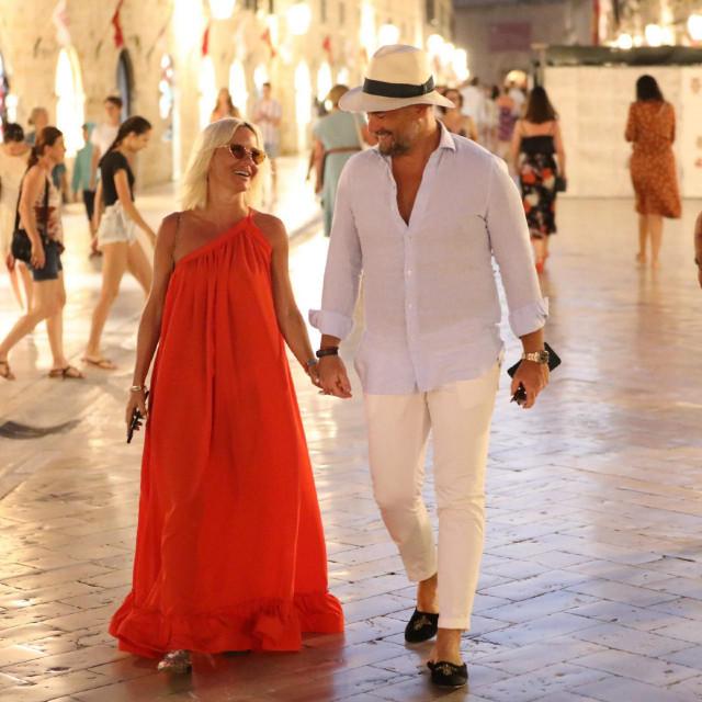 Maja Šuput i Nenad Tatarinov prošlog ljeta u Dubrovniku
