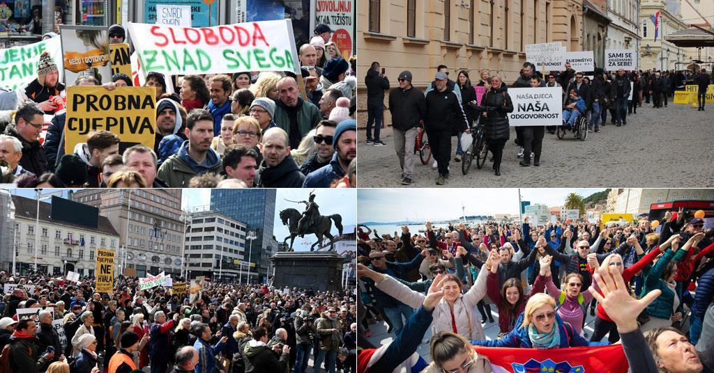 Prosvjedi u Hrvatskoj