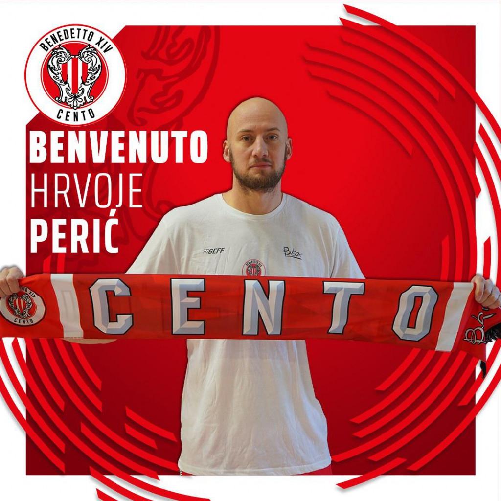 Košarkaški klub Benedetto XIV Cento poželio je dobrodošlicu Dubrovčaninu Hrvoju Periću
