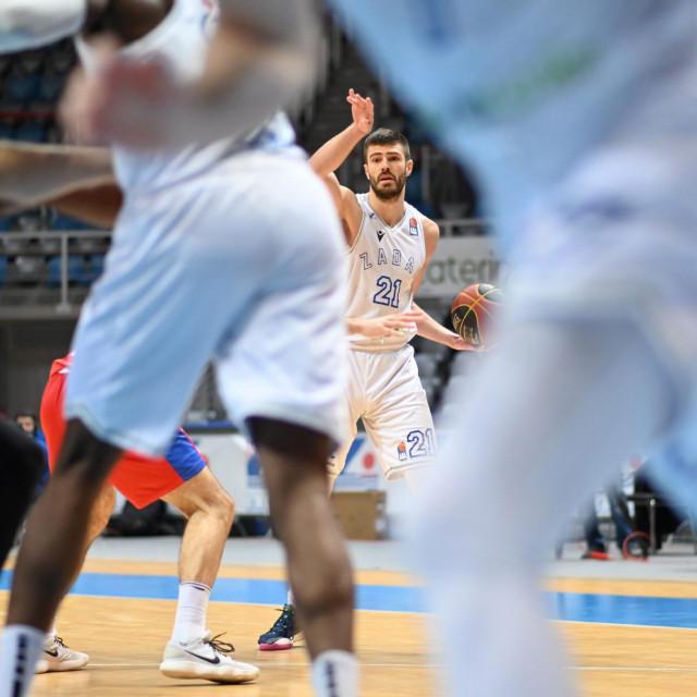 Utakmica ABA lige KK Zadar i KK Borac Čačak<br /> Na fotografiji: Justin Carter