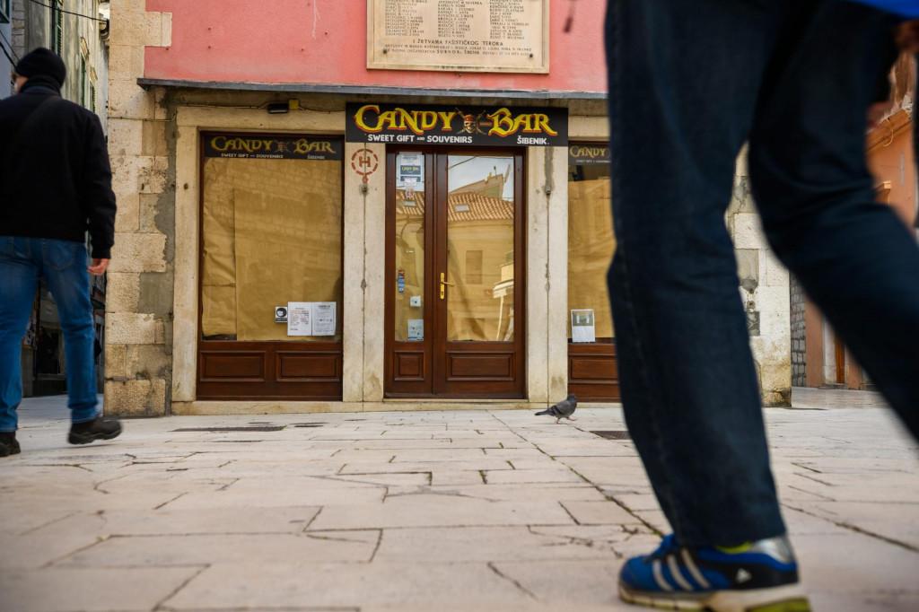 I u Šibeniku je sve više zatvorenih poslovnih prostora