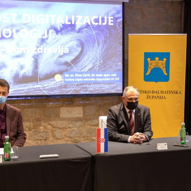 Projekt digitalne radiologije predstavili su dr. Marko Rađa, župan Blaženko Boban i mr.sc. Dino Carić
