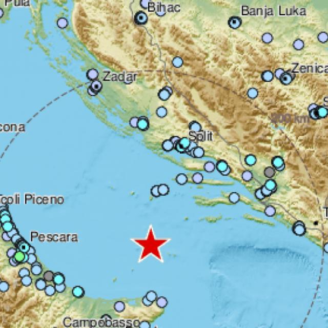 Potres se osjetio najviše na Visu