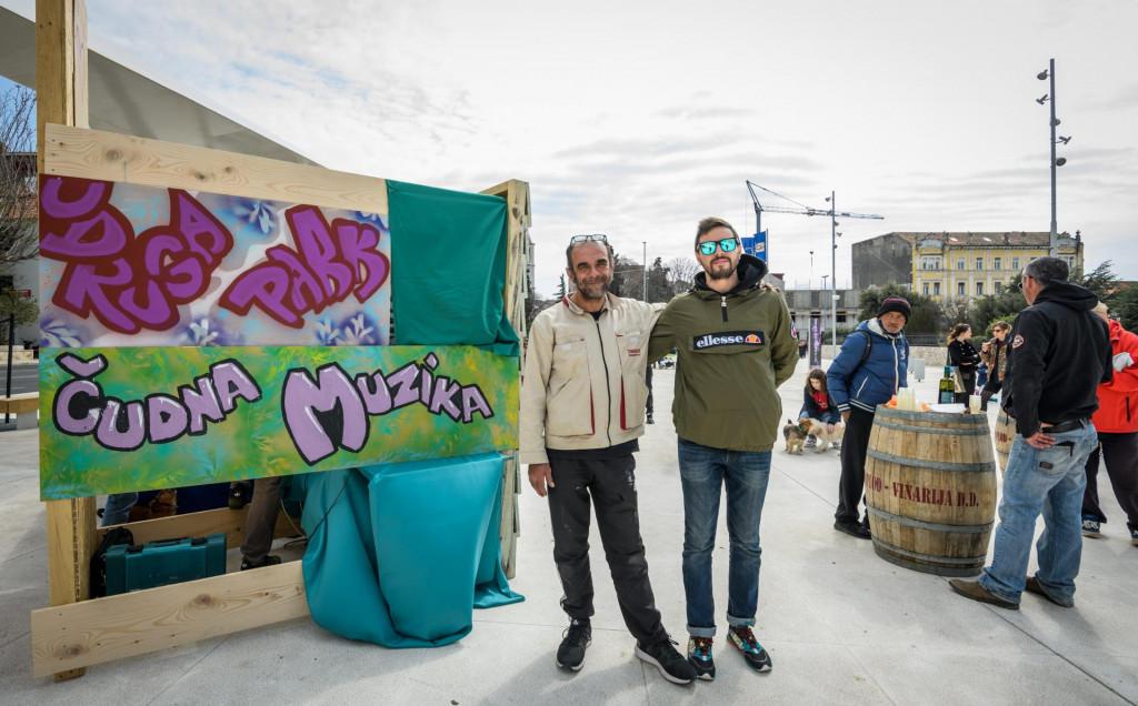 Dražen Frua i Igor Bergam iz Udruge Park na šibenskoj Poljani