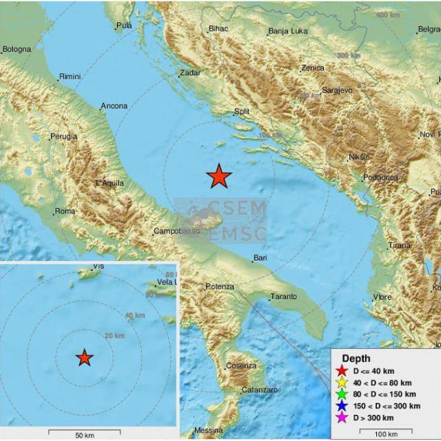 Potres u Jadranu