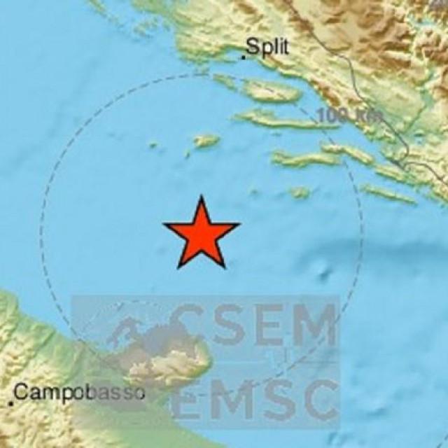 Potres u Jadranskom moru, šesti u zadnjih 30 sati