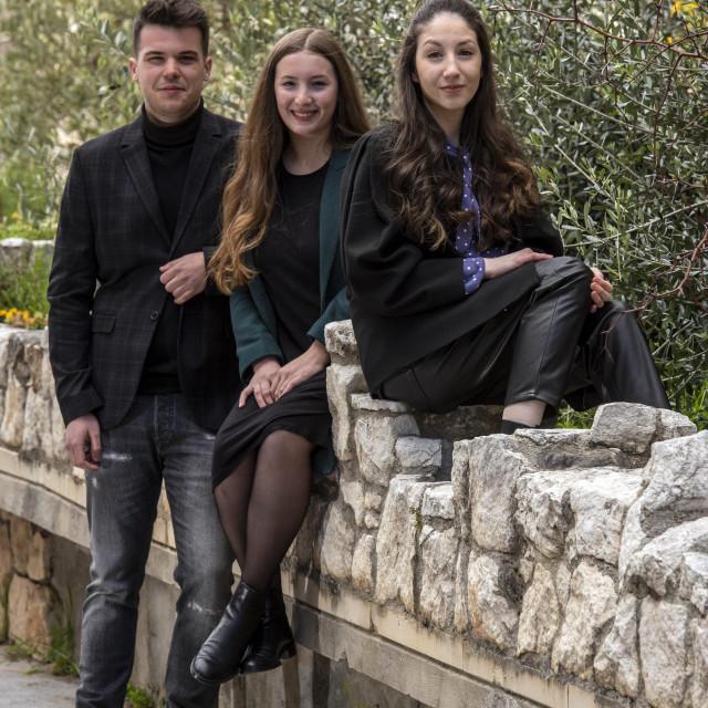 Studenti Filozofskog fakulteta Sveučilišta u Splitu Matea Bonacin, Ivan Lacić, Ivana Skočibušić<br />