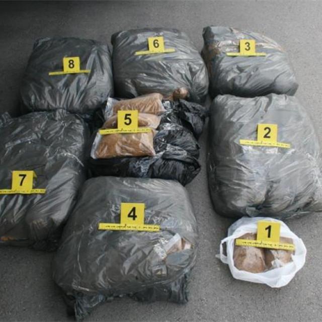 granična kontrola - pronađeno 98 kg rezanog duhana