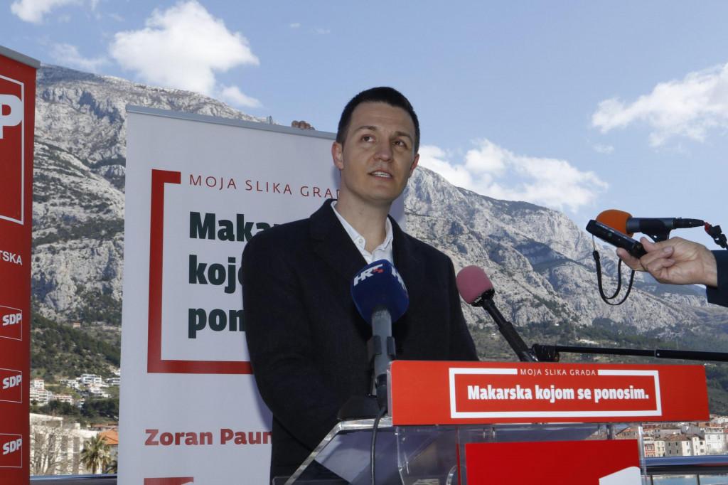 Zoran Paunović, SDP-ov kandidat za gradonačelnika Makarske