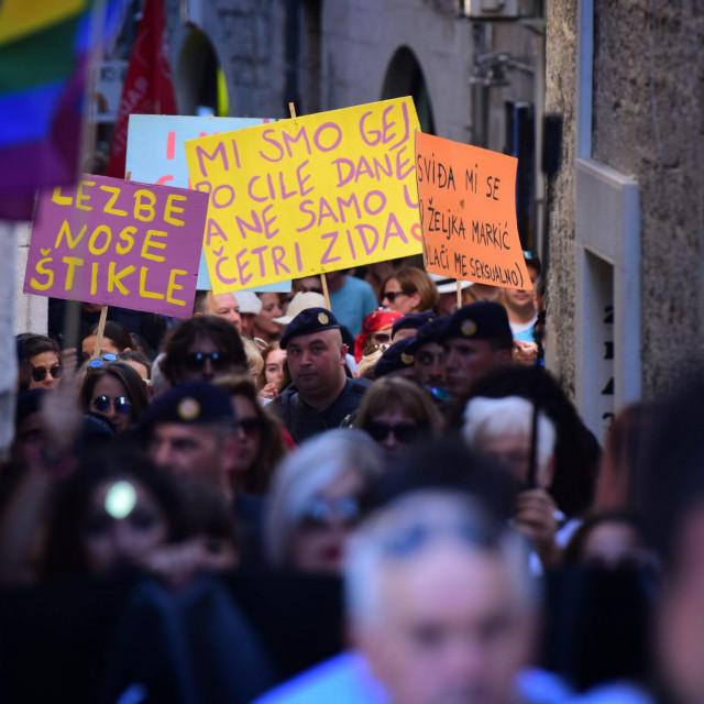 U Splitu je 2018. godine održan 8. po redu Split Pride, koji je organizirala ujedinjena splitska LGBTIQ scena.<br /> <br />