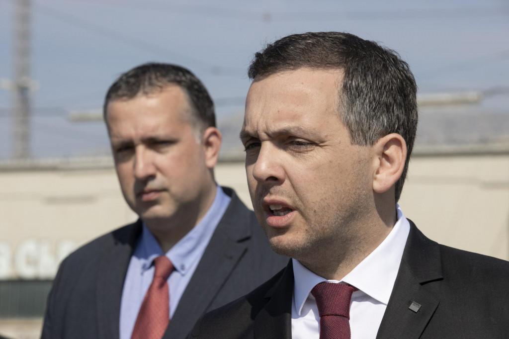 Ante Franić i čelnik splitskog SDP-a, Goran Kotur