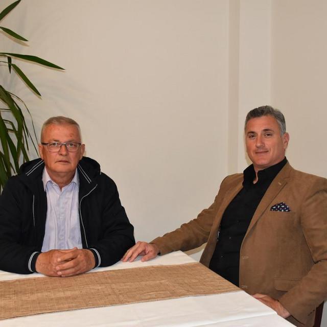 Predsjednik GO HSS-a Ploče Zdenko Mateljak i nositelj NL Dalibor Žderić