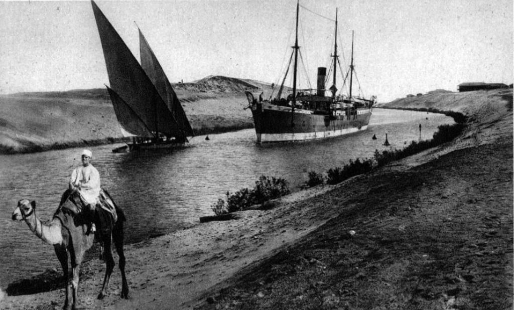 Promet Sueskim kanalom daleke 1907. godine