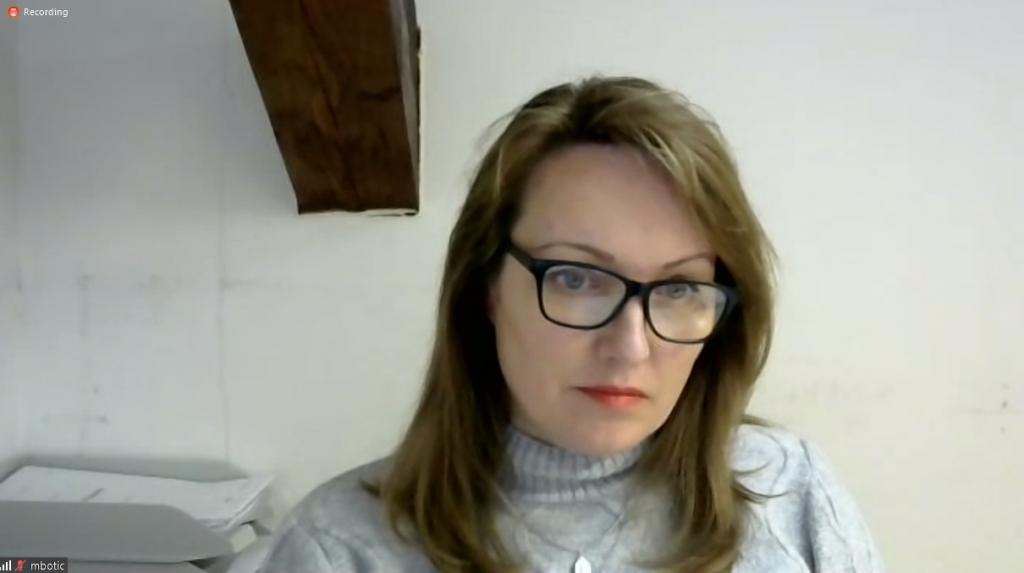 Marjana Botić na elektronskoj sjednici Županijske skupštine