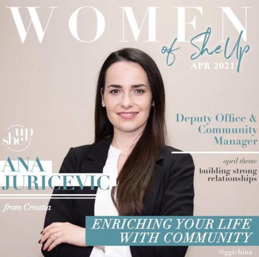 Posedarki Ani Juričević posvećan je poseban post kao mladoj i poduzetnoj ženi u Kini