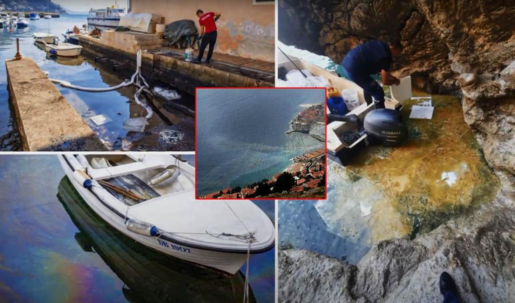 naftna mrlja u Dubrovniku, onečišćenje uzrokovano curenjem lož ulja iz hotela Excelsior