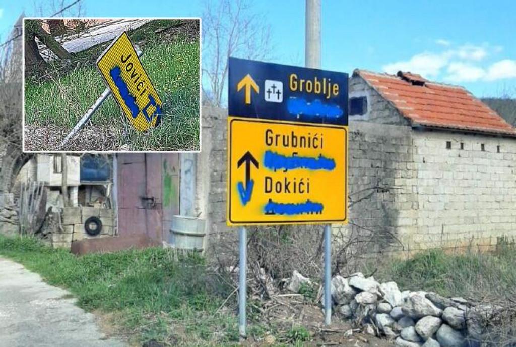 Uništene tek postavljene dvojezične table u općini Biskupija