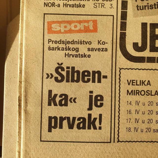Sjećanje na utakmicu Šibenka-Bosna