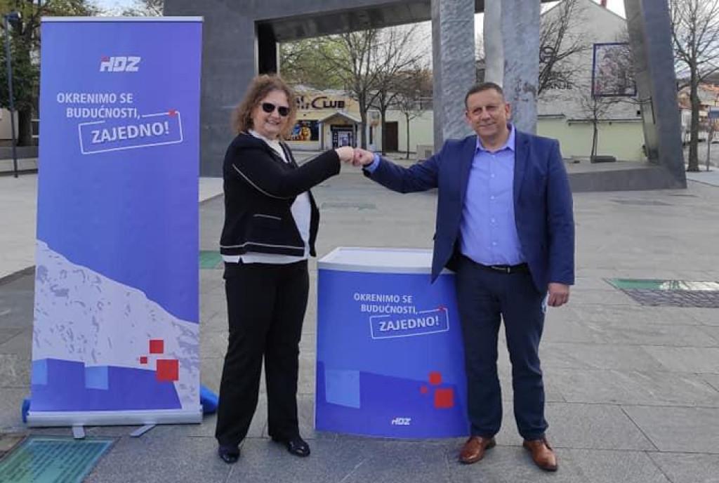 Sanja Bebek i Nikola Blažević na službenom predstavljanju kandidature