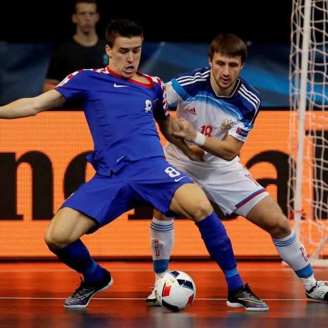 Dario Marinović protiv Rusije na završnici EP-a 2016. u beogradskoj Areni