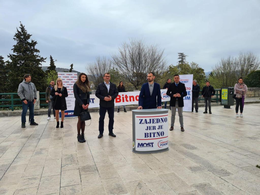Predstavljanje Ante Galića, kandidata Mosta i Domovinskog pokreta za gradonačelnika Drniša