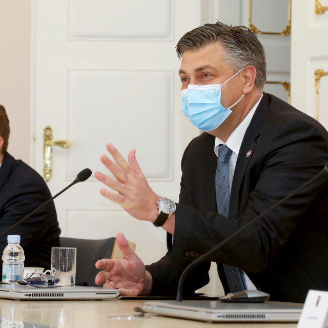 Premijer Plenković na sastanku sa predstavnicima umirovljenika