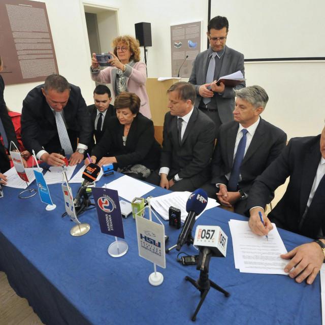 Potpisivanje koalicijskog sporazuma 2017. godine