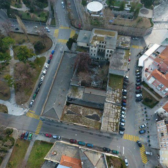 Snimak stare Tehničke škole iz zraka