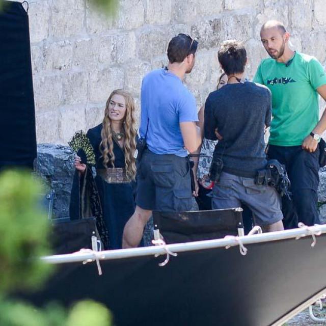 Sa snimanja HBO serije Game of Thrones na dubrovačkim zidinama, na fotografiji glumica Lena Headey