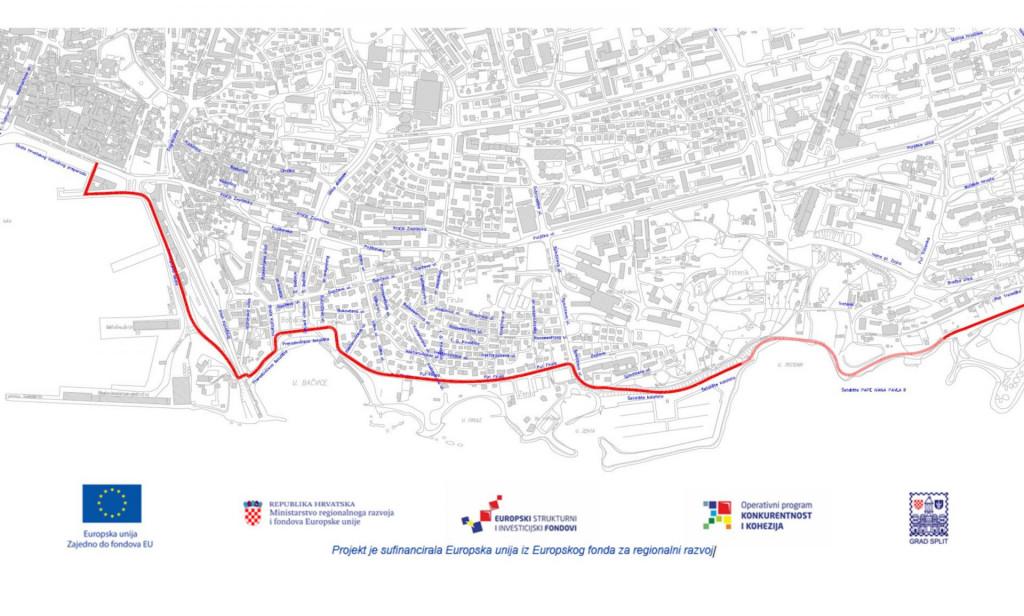 Četiri kilometra duga biciklistička ruta