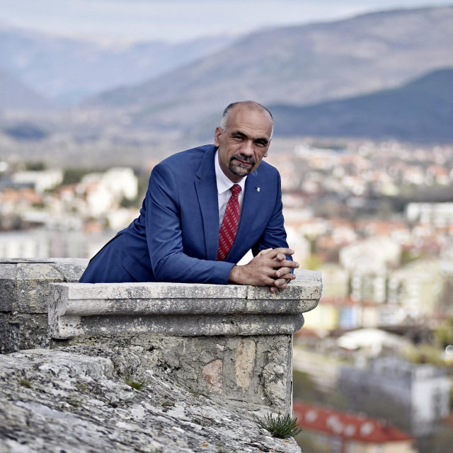 Marko Jelic na kninskoj tvrđavi