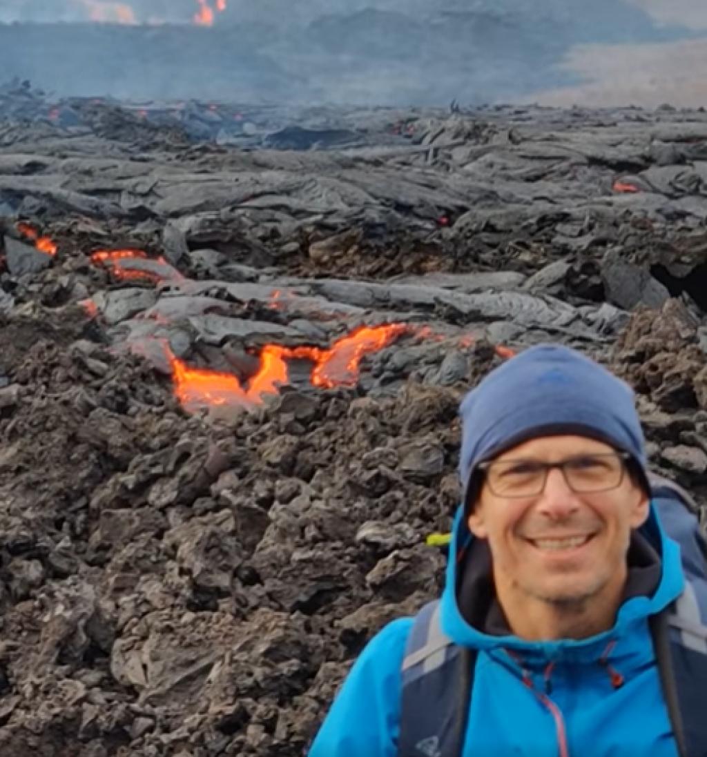 Hrvoje Brekalo na vulkanima na Islandu