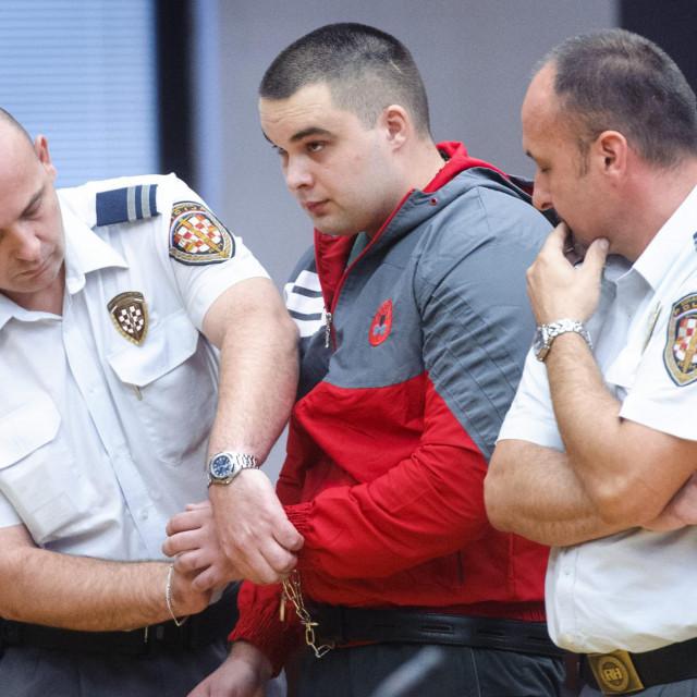 Na fotografiji: optuženi Jozo Cabraja u sudnici Županijskog suda u Splitu
