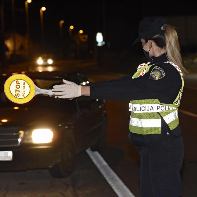 Rutinska kontrola sinjske policije